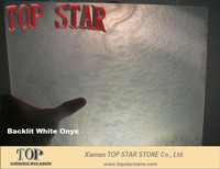Translucent White Onyx Laminated Glass Panel