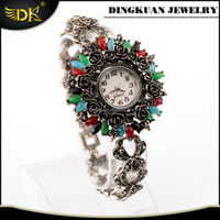 beautiful ladies watch colorful stone jewelry watch bracelet manufacturer