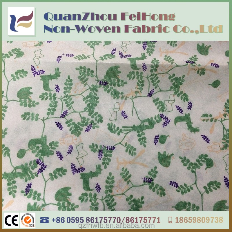 newest printed stripe 100% pp non woven fabric manufacturer in ahmedabad