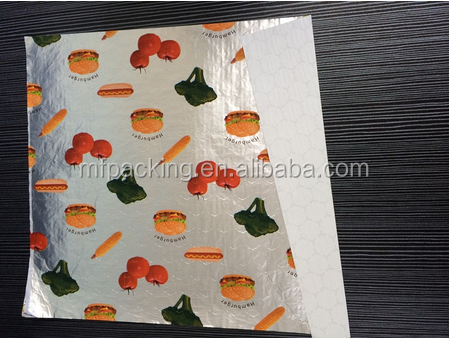 custom logo printed hamburger sandwich tissue wrapping paper