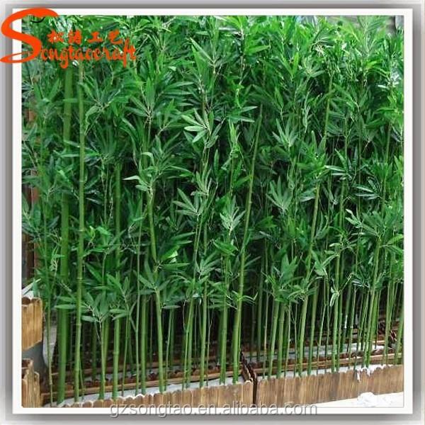 En gros artificielle bambou p les d coratif artificielle - Plantas para vallas ...