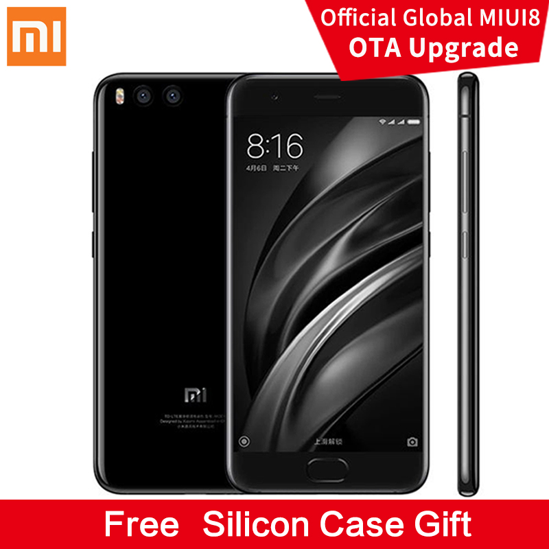 Unlocked Original MI 6 5.5 inch IPS Screen 64GB/128GB Android 7 quad core gorilla glass mi6 dual sim mi mobile phone