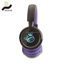 High quality Active Noise Cancelling Over-ear Slim Swiveling Wireless Headphones Headset glowing with Mic (OS-BT9901)