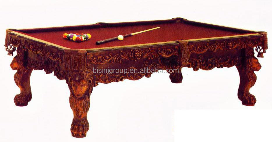 Luxury Solid Wood Pool Table Heavy Carved Billiard Table