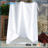 Pure Aluminum Foil Flat Plastic Bag Packaging Bag Food Snack Vacuum Storage Open Top Heat Seal Silver Packaging Bag