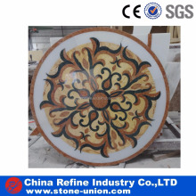Modern waterjet hotel marble floor medallion pattern designs