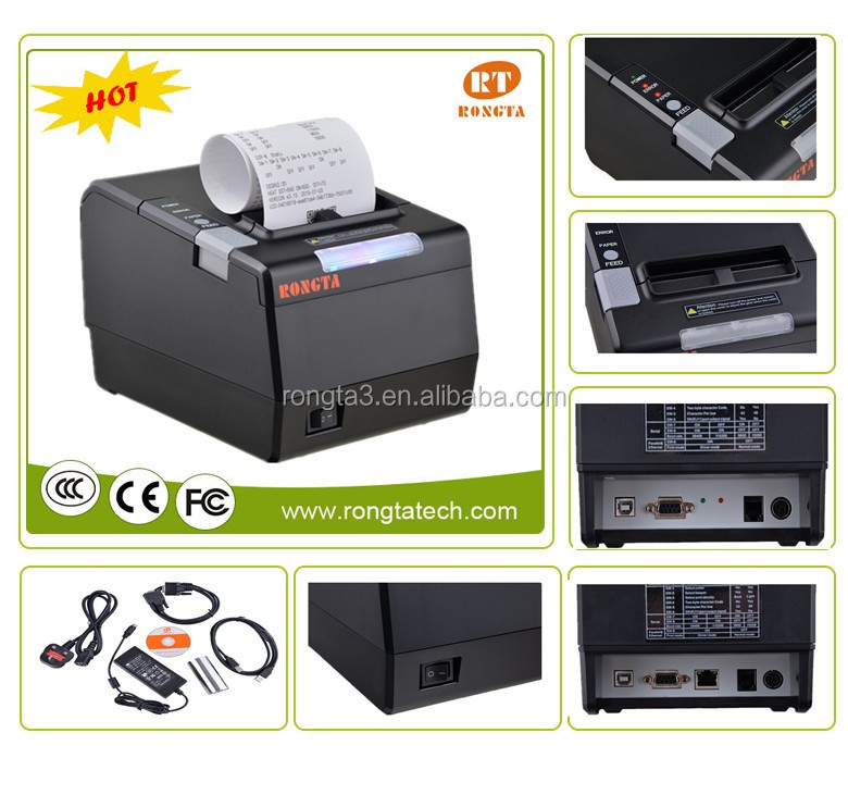 80mm Rongta thermal pos printer RP850 with high printing speed