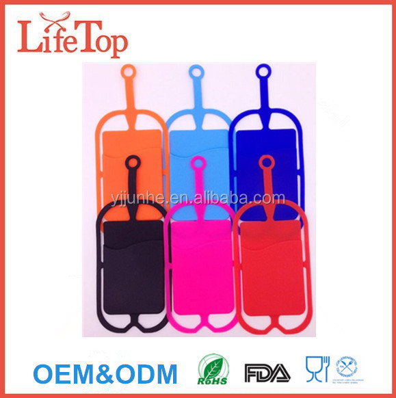 Silicon ID Card Holder Business Card Holder with Necklace Lanyard