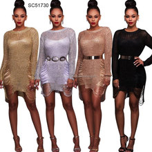 4 colors new designs african crocheted fashion clothings women dresses 2017