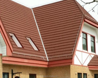 Terracotta look Classical stone coated roofing tiles for house design
