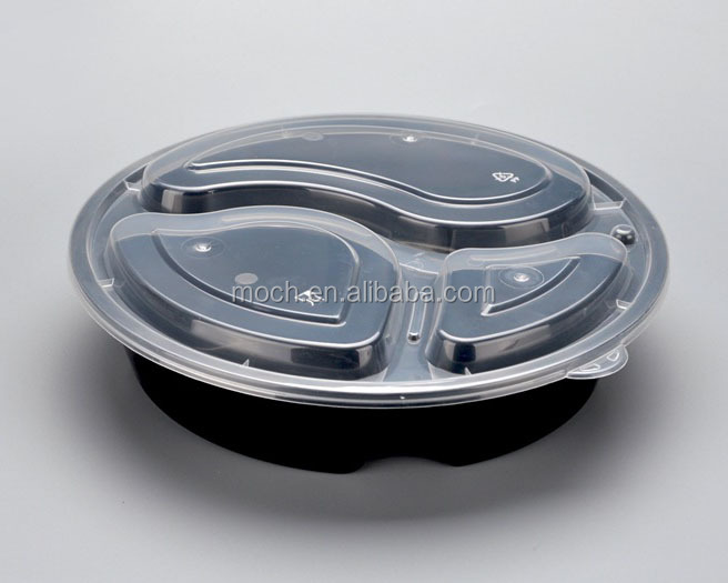 Eco Friendly Bento Lunch Box 3 Compartment Food Container with Lid