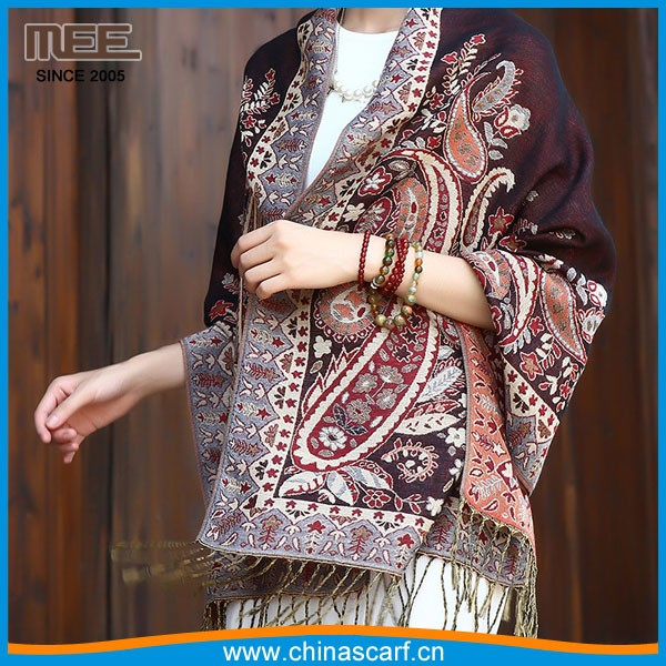 fashion paisley pashmina scarf for ladies