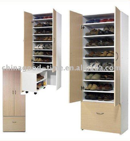 Gabinete del zapato de madera zapatero armarios de madera for Modelos de zapateros