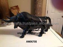 Black Marble Bull Figurine affordable price