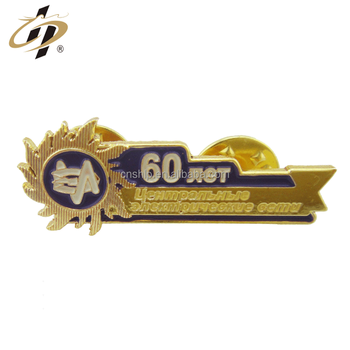 Custom gold die cut enamel metal souvenir pin badges
