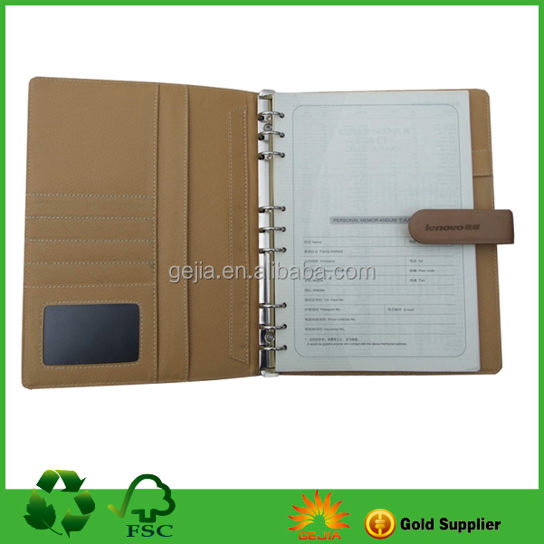 PU Leather Agenda Notebook