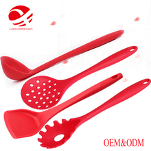 Heat resistant food grade cooking utensil set with long Handle silicone soup ladle