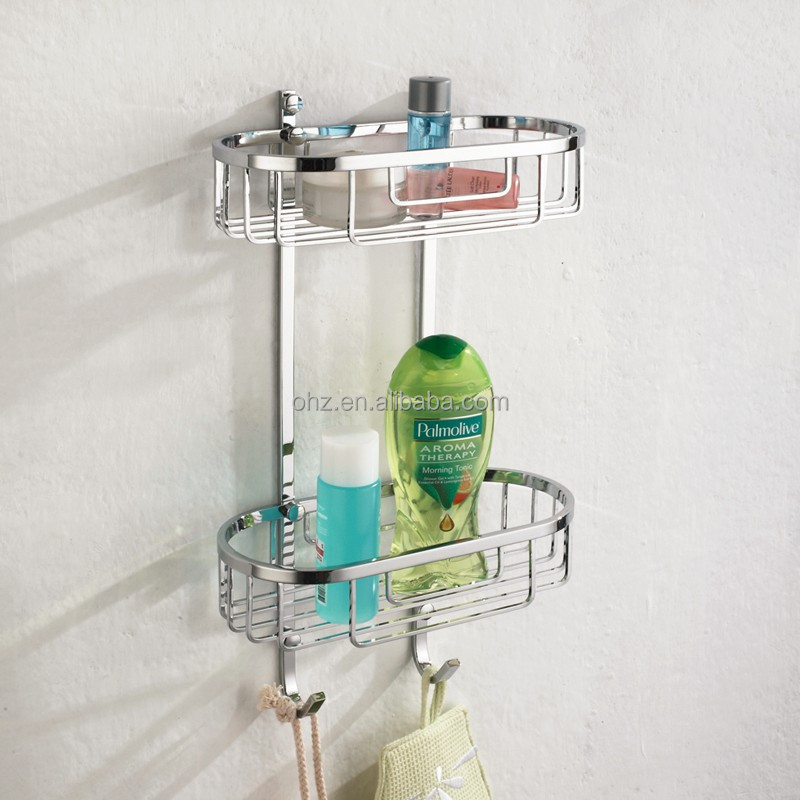 bathroom hanging storage wire baskets with hook