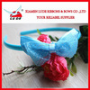 2014 hot sales organza ribbon headband for girls decoration