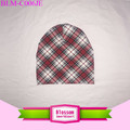Wholesale plaid printing hats boutique baby beanies soft cotton newborn baby beanie