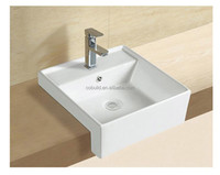 new design Art Rectangular Cicular Countertop Ceramic Basin