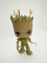 Gzltf Wholesale Funko Pop Guardians of the Galaxy Groot Night Lights 49# 10cm Vol. 2 Baby Groot With Shield Exclusive Figure