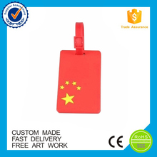 Custom for travelling and advertisement soft pvc gift luggage tag