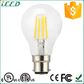 ETL UL cETL cUL Approved Filament LED 4 Watt 120 Volt A19 LED Bulb Glass Cover