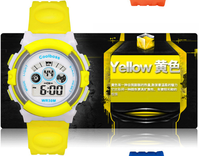 rubber waterproof digital kids children sports led digital watches for kids