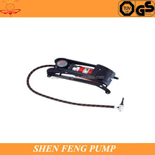 High pressure hand air pump car tire foot pump for sale/road bike accessory
