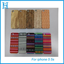 Luxury colorful wood pc mobile phone cases for iphone 5 5s
