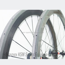 On sale 50mm*23mm 3K Glossy road wheelset clincher carbon fiber bicycle wheel set 50mm