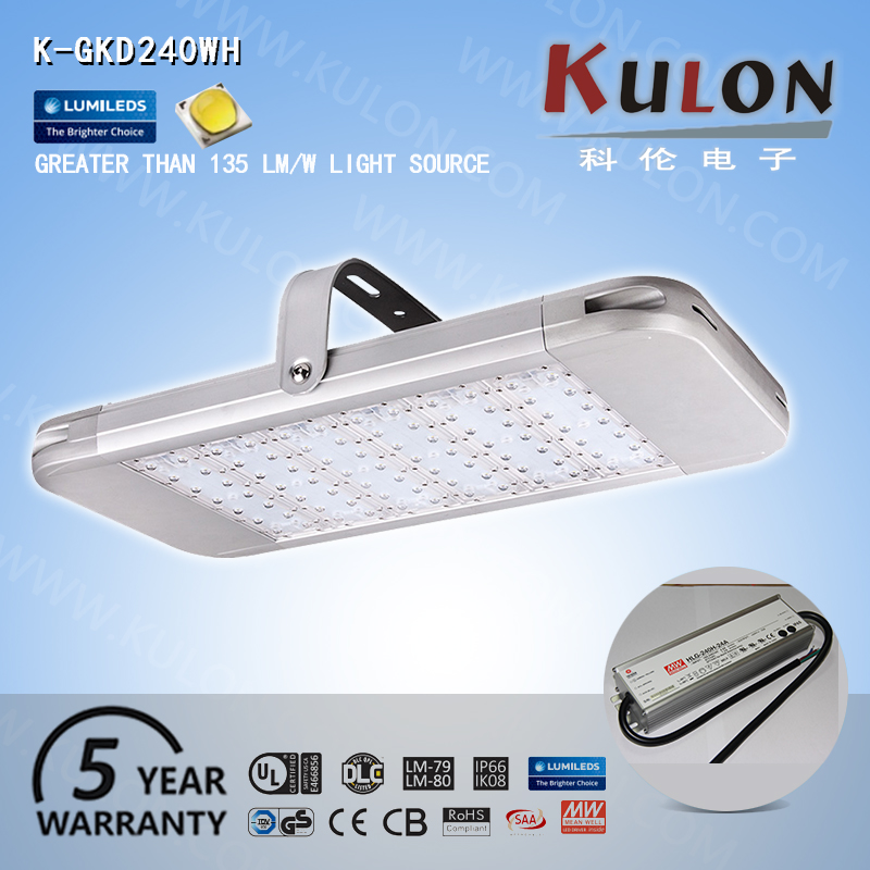 UL rated wholesale indoor 240w warehouse led high bay