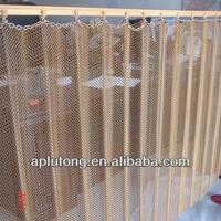 Anping beautiful metal coil drapery for window treatment/metal mesh ceilings