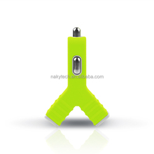 dual USB cell phone car charger for iphone5/ 5S/5C