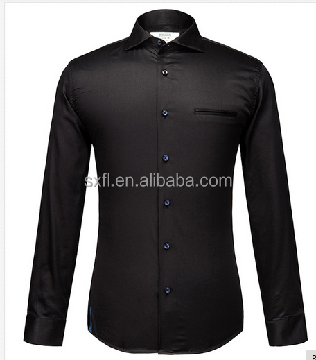 100% Cotton Shirt Men 2018 Spring Brand Clothing Long Sleeve Mens Dress Shirts Casual Slim Fit Black Camisa Social Masculina
