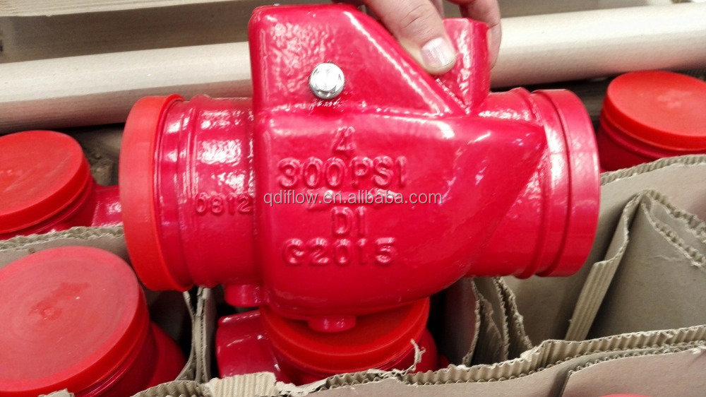 UL Listed FM Approved Check Valve with Grooved End
