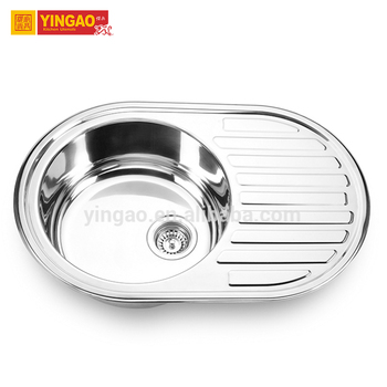 Wholesale small size sink stainless steel 304 single bowl kitchen sink