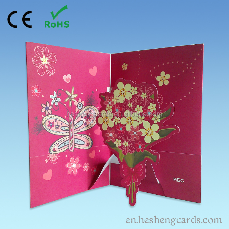 Custom music greeting card sound module,recording musical video card
