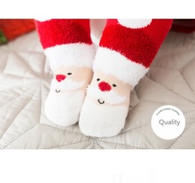 OEM Wholesale Christmas Children Sock Cute Cartoon Red