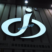 3D outdoor advertising led letter sign stainless steel house number logo