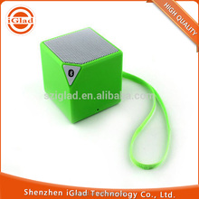 Hot selling BQB certificate colorful ABS mini portable cube bluetooth speaker