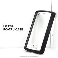 New PC+TPU case for LG F60 case,bumper case cover for lg f60