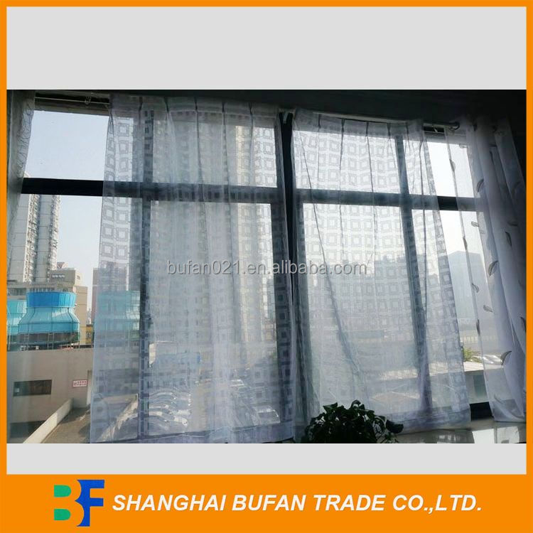 Top quality competitive price kitchen embroidery fabric lace curtain