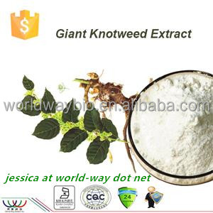 Free sample ! solvent extraction giant knotweed root extract trans resveratrol 98% HPLC