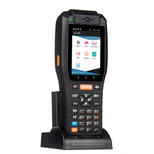 Rugged IP65 Logistic Courier Android Handheld PDA 1D 2D Barcodes Scanner printer with display