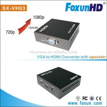 VGA to HDMI with audio with HDCP compliant, VGA 2 HDMI 1080p full HD converter support PAL NTSC input