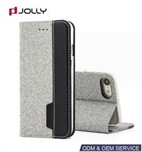 New Design PU Flip Design Black Leather Cover Protective Shell Skin Case For iphone 8