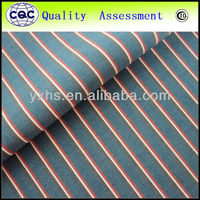 Yarn dyed stripe poplin t/c fabric