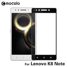 Mocolo Wholesale Mobile Accessory For Lenovo K8 Note Anti-glare Asahi Cell Phone 9h Tempered Glass Screen Protector